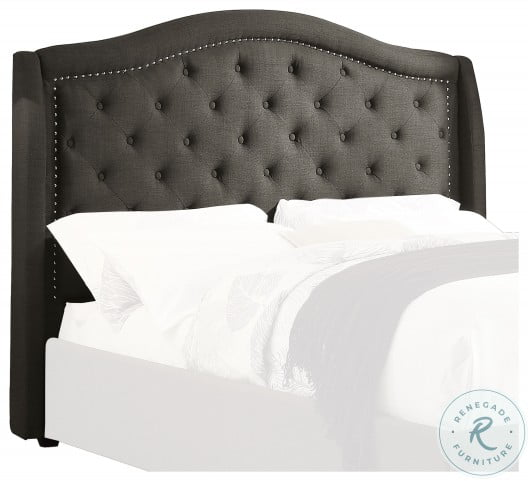 Bryndle Brown Queen Upholstered Platform Bed