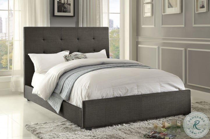 Cadmus Grey Cal. King Upholstered Panel Bed