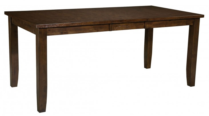 Abaco Warm Dark Tobacco Square Counter Height Extendable Table