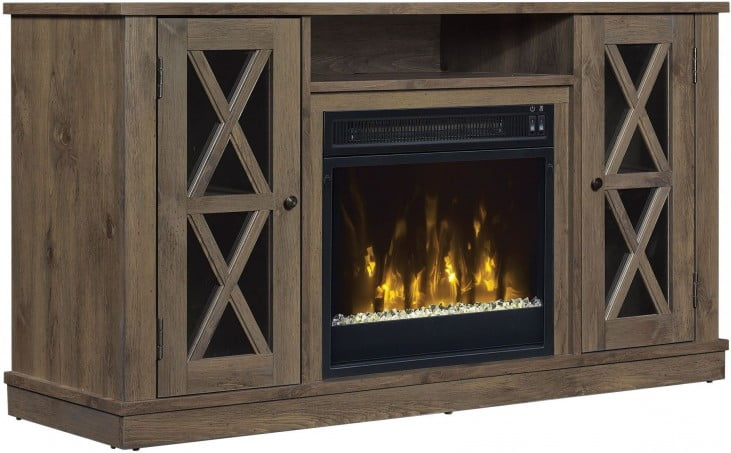Classicflame Spanish Gray Bayport Tv Stand With Fireplace From Twin