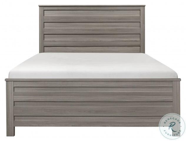 Waldorf Dark Gray Cal. King Panel Bed