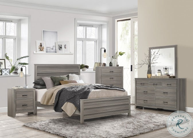 Waldorf Dark Gray Panel Bedroom Set