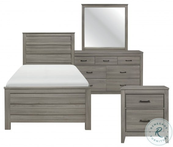 Waldorf Dark Gray Twin Panel Bed