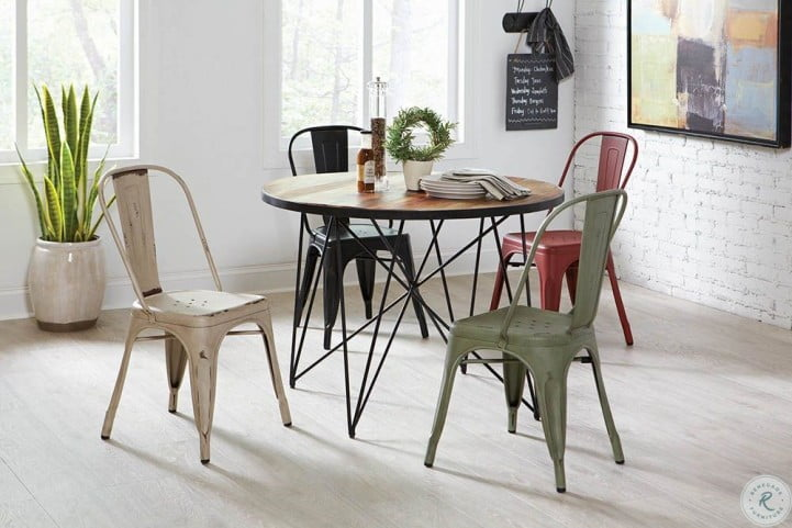 Bellevue Blue Metal Dining Chair Set of 4 from Coaster ...