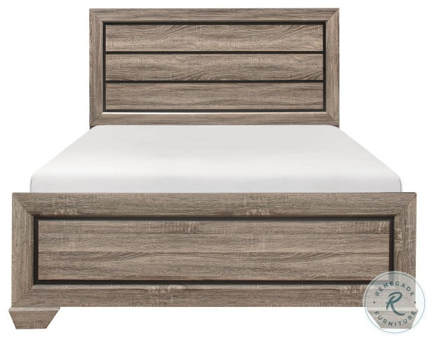 Beechnut Natural Queen Panel Bed
