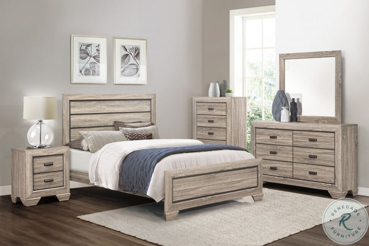 Beechnut Natural Panel Bedroom Set