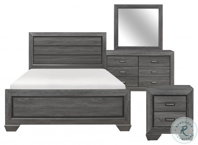 Beechnut Gray Full Panel Bed