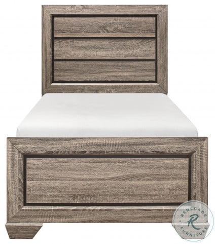Beechnut Natural Twin Panel Bed