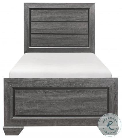 Beechnut Gray Twin Panel Bed