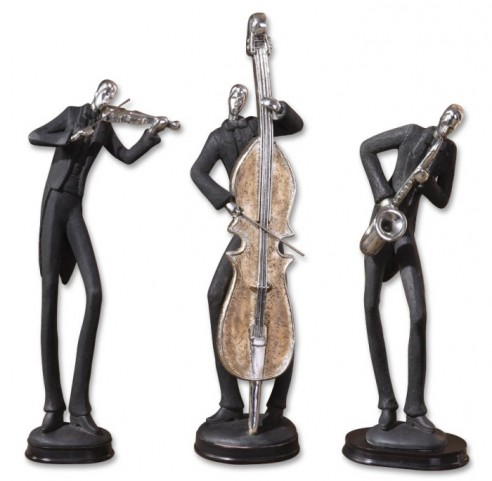 Musicians Decorative Figurines, Set of 3