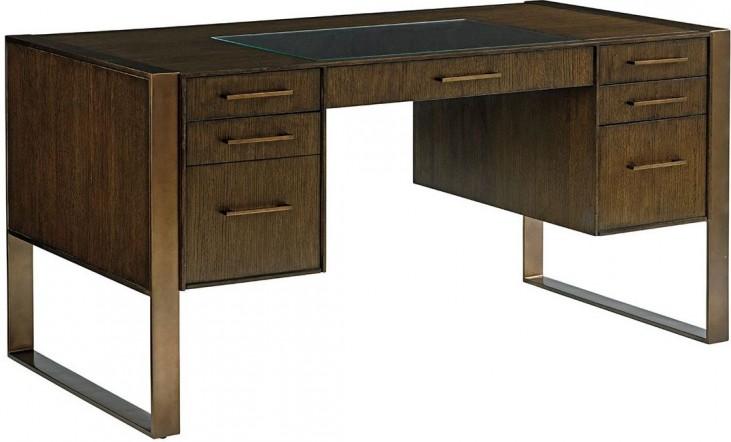 Cross Effect Bronze Structure Desk