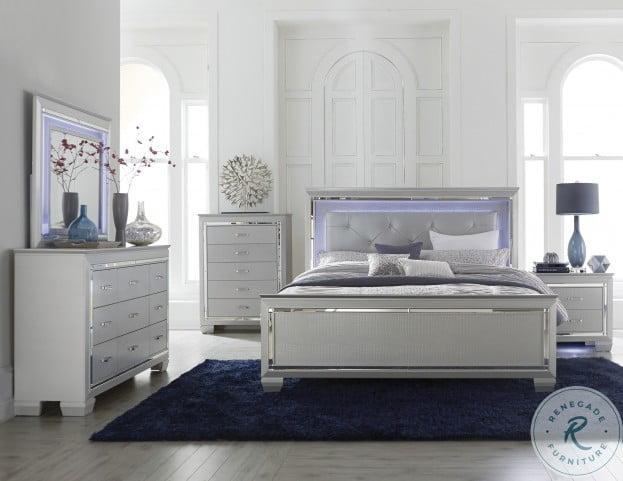 Allura Silver Panel Bedroom Set