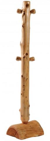 Cedar Floor Coat Tree With Pegs
