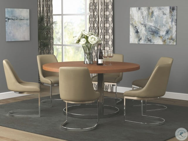 Marino Taupe Dining Chair Set Of 2
