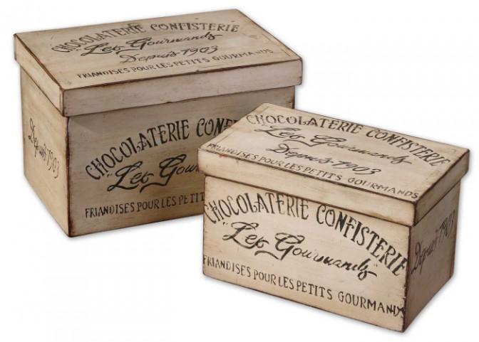 Chocolaterie Decorative Boxes, Set of 2