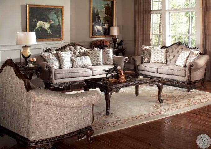 Bonaventure Park Cream Living Room Set