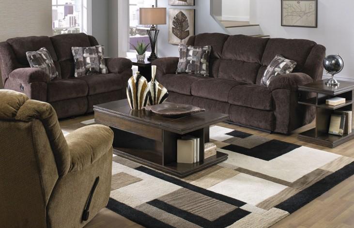 Transformer Chocolate Reclining Living Room Set
