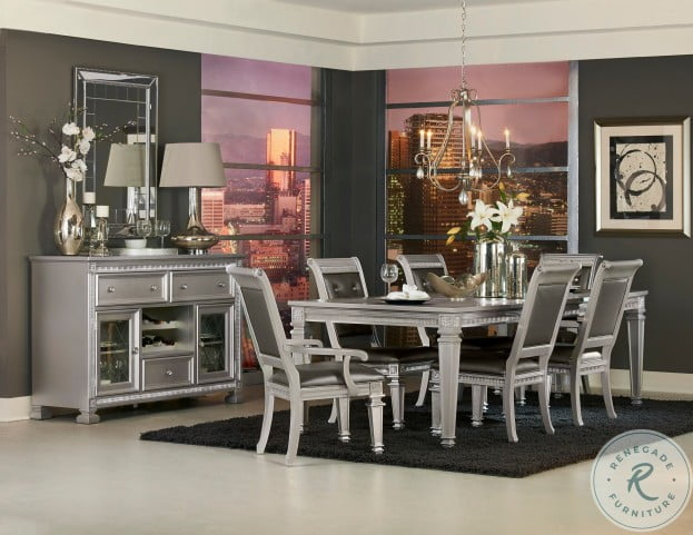 Bevelle Silver Extendable Dining Table