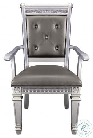 Bevelle Dark Gray Arm Chair Set of 2
