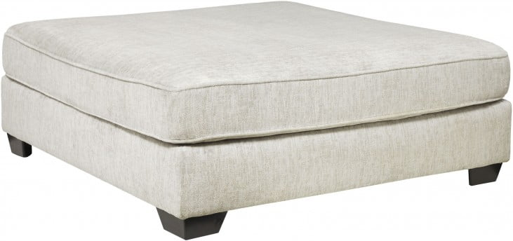 Rawcliffe Parchment Oversized Accent Ottoman