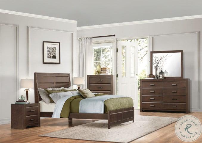 Erwan Rich Espresso Panel Bedroom Set