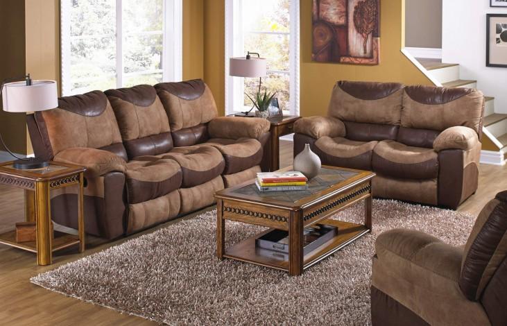 Portman Saddle/Chocolate Power Reclining Living Room Set