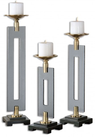 Everly Bronze Candleholders Set of 3