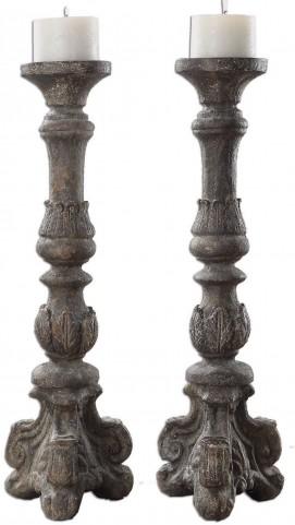 Bogdan Antique Candleholders Set of 2