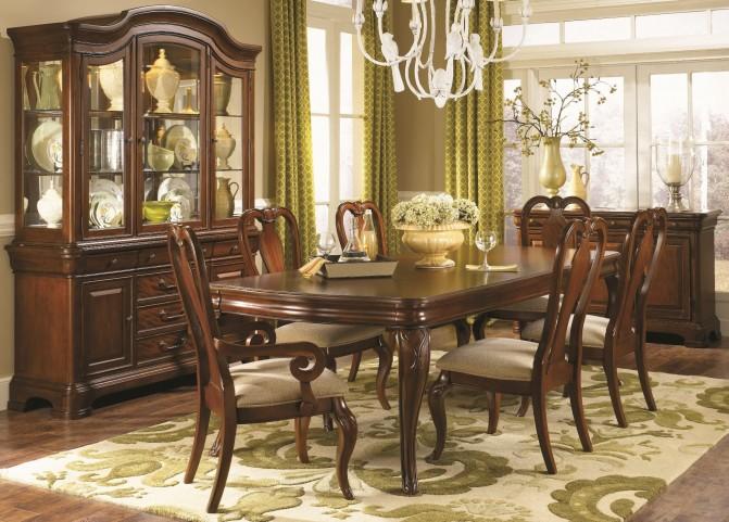 Evolution Rectangular Leg Extendable Dining Room Set