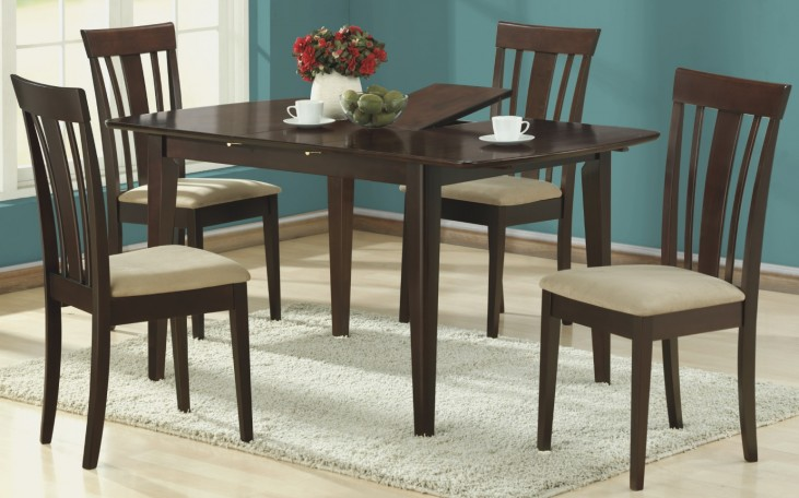 1897 Cappuccino Butterfly Leaf Extendable Dining Room Set