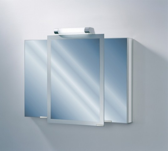 "Axara 39"" Hinge Right Anodized Mirror Cabinet"