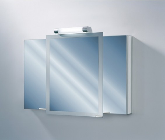"""Axara 47"""" Hinge Right Anodized Mirror Cabinet"""
