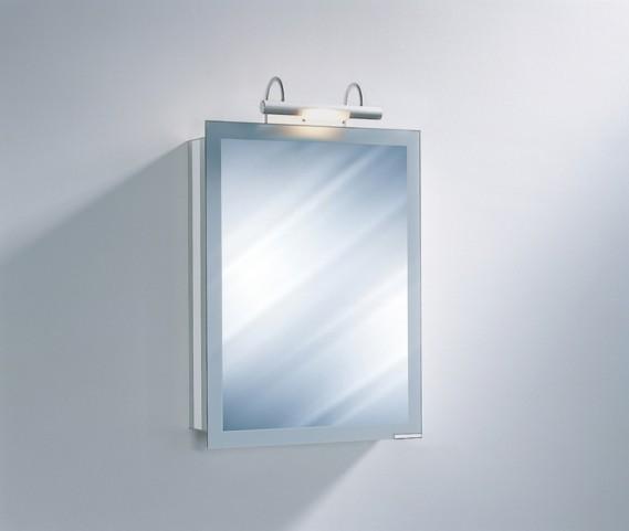 "Axara 19"" Hinge Left White Mirror Cabinet with Halogen Lamp"