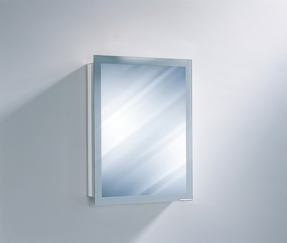 "Axara 19"" Hinge Left Non Electric White Mirror Cabinet"
