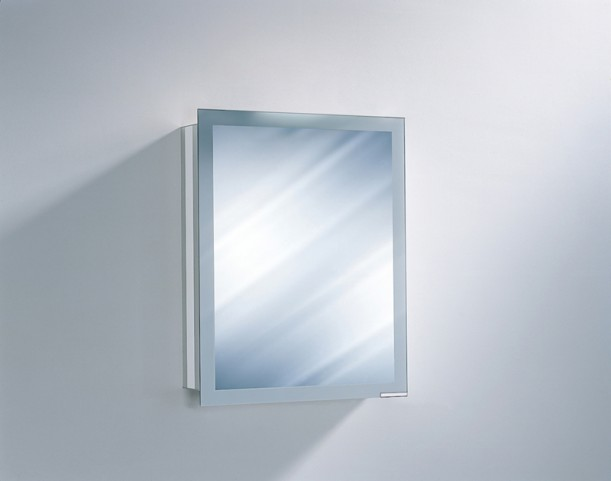 "Axara 23"" Hinge Left Non Electric White Mirror Cabinet"