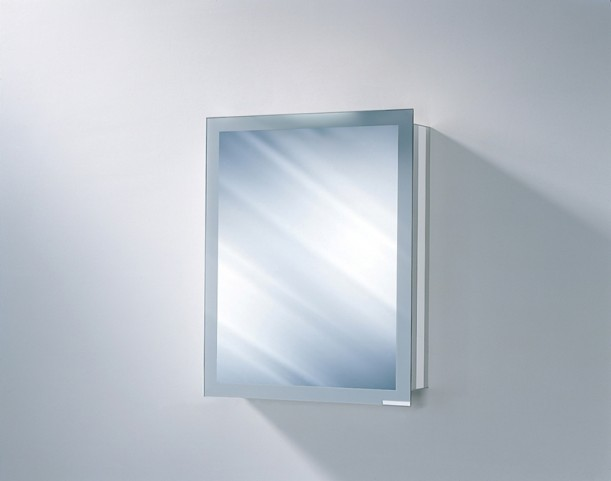 """Axara 23"""" Hinge Right Non Electric Anodized Mirror Cabinet"""