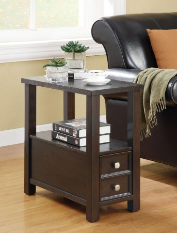 Cappuccino Chairside Table 900992