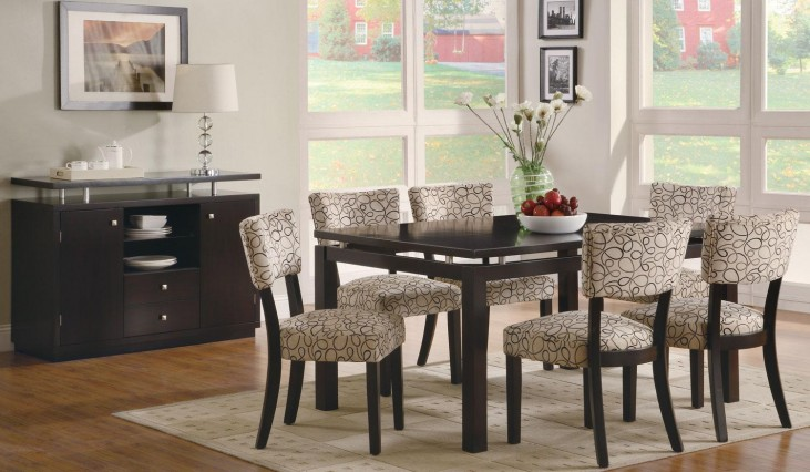 Libby Rectangular Floating Top Dining Room Set