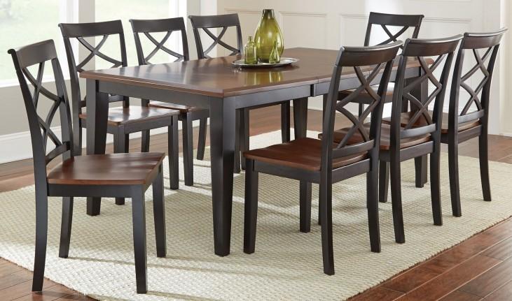Rani Two Tone Extendable Rectangular Dining Room Set