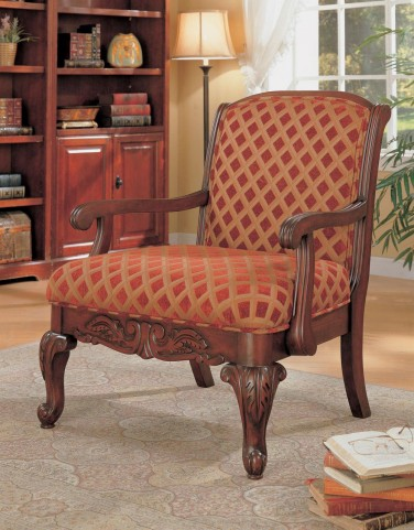 Accent Chair in Cherry - 900222