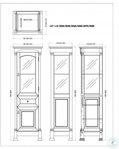 Brookfield Mahogany Linen Cabinet