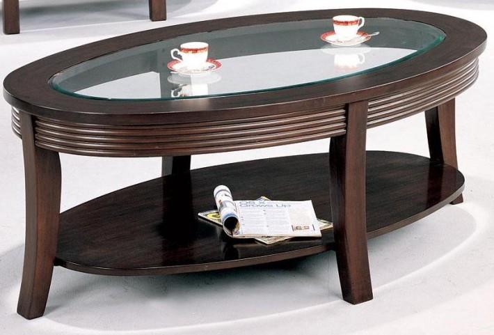 Devon Cappuccino Finish Coffee Table - 5525