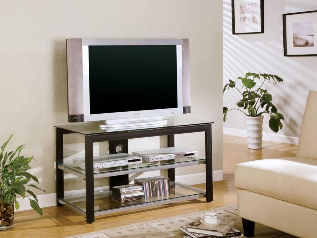 Black & Silver TV Stand - 700612
