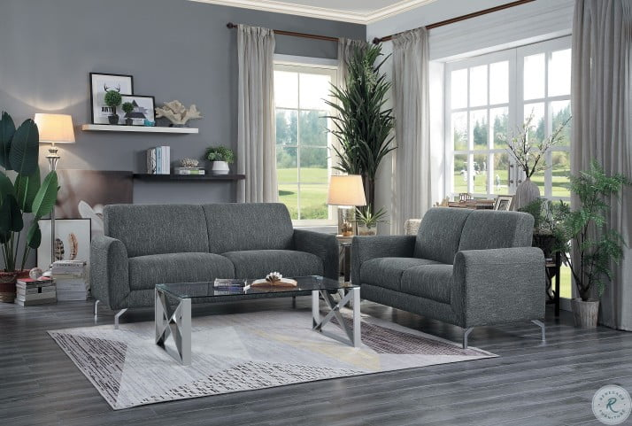 Venture Dark Gray Living Room Set