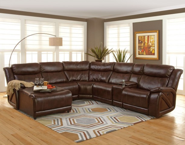 Park Place Premier Brown LAF Sectional