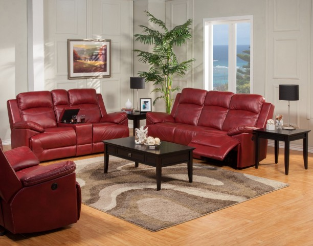 Cortez Red Power Reclining Living Room Set