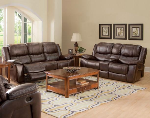 Kenwood Premier Brown Power Reclining Living Room Set