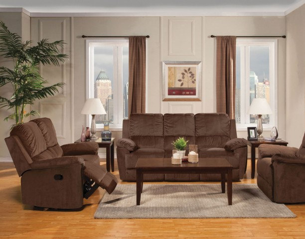 Parker Jayden Chocolate Reclining Living Room Set