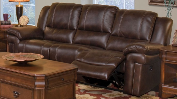 Hastings Summit Brown Dual Reclining Sofa