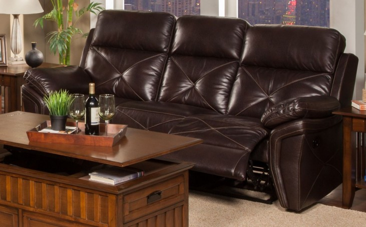 Galaxy Snake Chocolate Dual Reclining Sofa